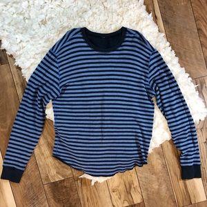 Lululemon Reversible Striped Sweatshirt
